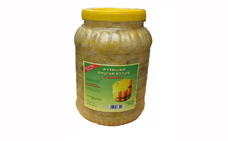 Geriebener Sauerkraut in PET- Glaser mit netto mass - 2,7 kg